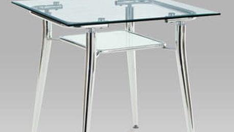 Jídelní stůl EP9231 80x80 cm - chrom/sklo