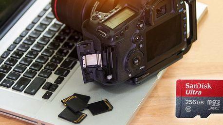 Paměťové karty MicroSD s obří kapacitou až 256 GB