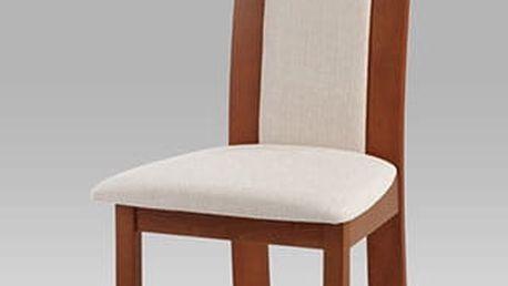 Jídelní židle BC-3921 TR3 - třešeň/potah krémový