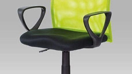 Kancelářská židle KA-BERT GRN - látka MESH černá/látka MESH zelená