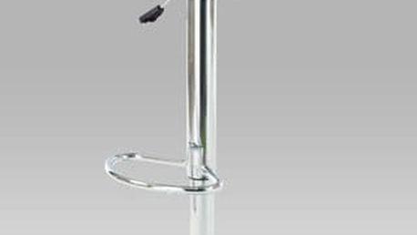 Barová židle AUB-103, chrom/koženka černá