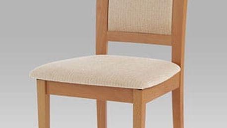 Jídelní židle BC-3960 buk, potah béžový