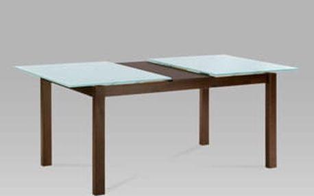 Jídelní rozkládací stůl BT-6780 WAL 150+35x90cm - ořech/sklo