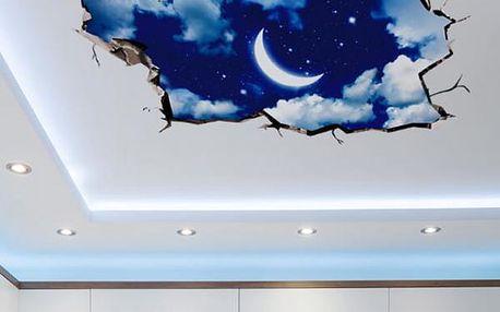 3D samolepka na strop či podlahu - Noční obloha - dodání do 2 dnů