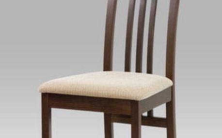 Jídelní židle BC-2482 WAL - ořech/potah světlý