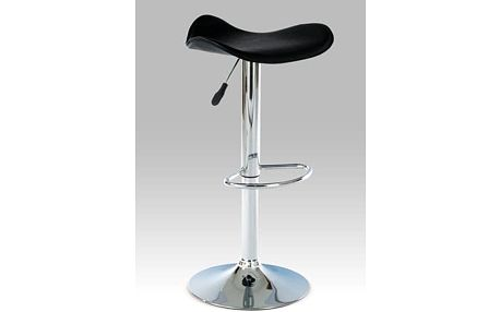 Barová židle AUB-300, chrom/koženka černá