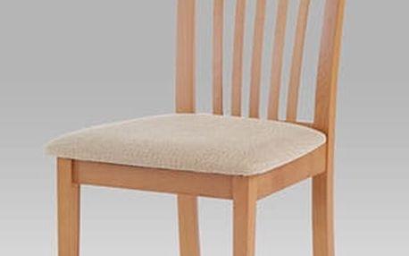 Jídelní židle BC-3950 buk, potah béžový