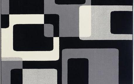 Černý koberec Hanse Home Hamla Retro, 120x170 cm