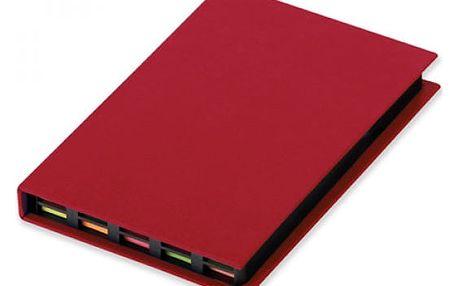 Sada papírků na poznámky v červeném pouzdře - dodání do 2 dnů