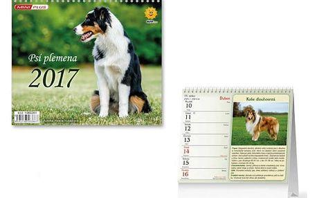 Mini kalendář 2017 - Psí plemena - dodání do 2 dnů