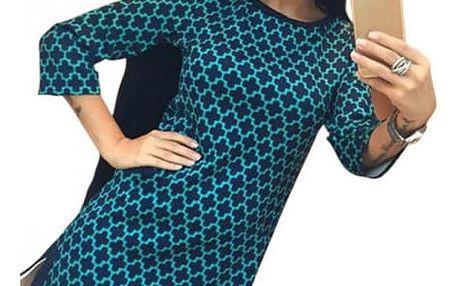 Dámské mini šaty s tříčtvrtečním rukávem