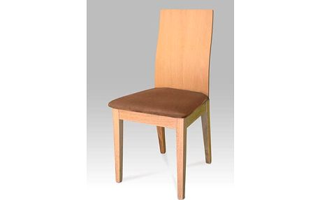Jídelní židle C-1501 BUK - buk/potah hnědý