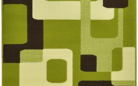 Zelený koberec Hanse Home Hamla Retro, 80x200 cm