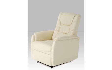 Relaxační křeslo TV-7013 CRM - koženka krémová