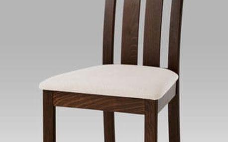 Jídelní židle BC-2602 WAL - ořech/potah béžový