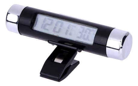 LCD hodiny s teploměrem do mřížky topení