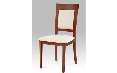 Jídelní židle BC-3960 třešeň, potah krémový
