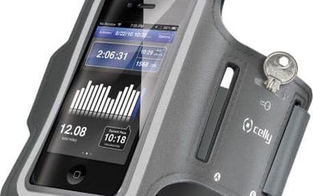 CELLY sportovní neoprénové pro Samsung Galaxy S4, šedá - ARMBAND02