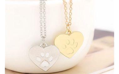 Náhrdelník pro milovníky psů ve zlaté nebo stříbrné barvě