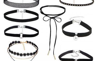 Set rozmanitých choker náhrdelníků - 8 kusů