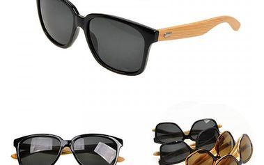 Sluneční brýle z bambusového dřeva