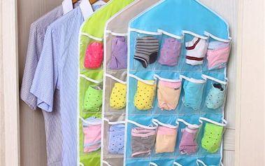 Organizér do skříně - 3 barvy