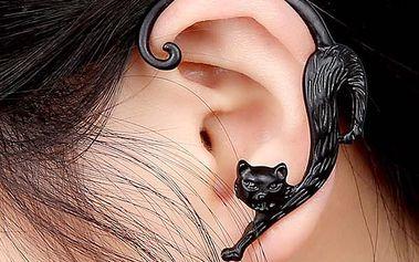 Punková náušnice na celé ucho - Kočka