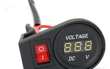 Digitální voltmetr s LED displejem - 5 barev podsvícení