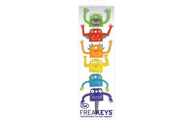 Sada 6 krytů na klíče s příšerami Fred & Friends Freakeys