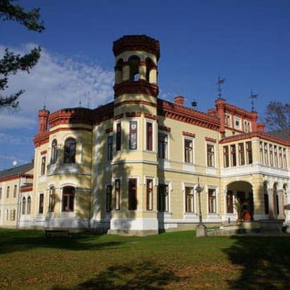 Wellness pobyt v Hotelu Zámek Mostov: 3-5 dní pro dva s polopenzí + bazén, sauna a masáž
