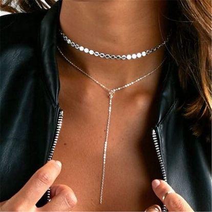 Dámský náhrdelník dlouhý v decentním stylu