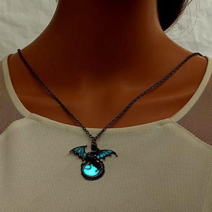 Náhrdelník s drakem - svítící ve tmě