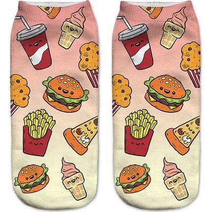 Dámské ponožky s roztomilým potiskem - 21 variant