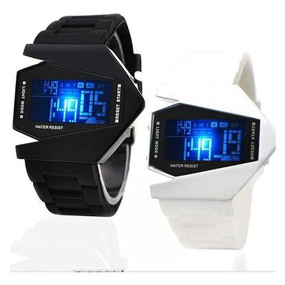 LED hodinky v originálním designu - mix barev