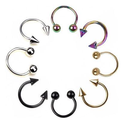 Piercingové náušnice v různých variantách - 2 ks