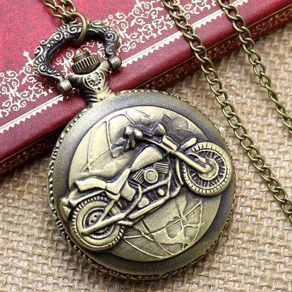 Kapesní hodinky s pánskými motivy - motorka - dodání do 2 dnů