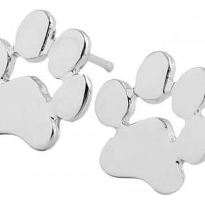 Náušnice v podobě zvířecích tlapiček - stříbrná barva - dodání do 2 dnů