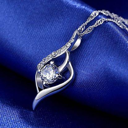 Náhrdelník s kamínky ve stříbrné barvě - elegantní