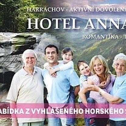 Turistika a lenošení v Harrachově na 3-4 dny s polopenzí pro 1 osobu.