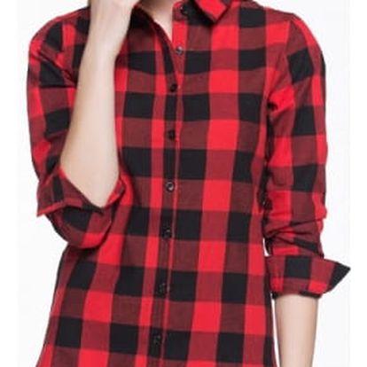 Dlouhá košile s kostkovaným vzorem pro ženy - 19 variant