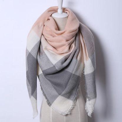 Trojúhelníkový velký šátek - 21 variant
