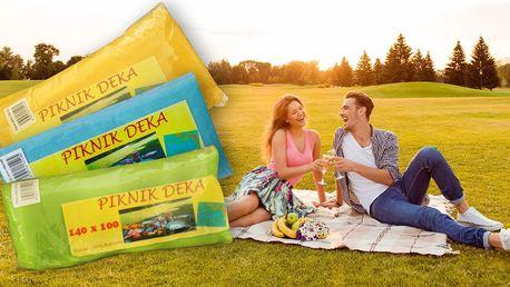 Barevné piknikové deky včetně poštovného