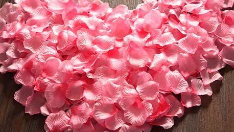 Tisíc kusů okvětních plátků růží - různé barvy