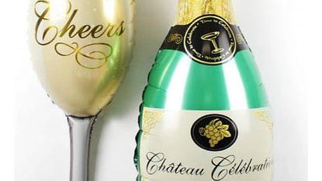 Nafukovací šampaňské balónky - 2 ks