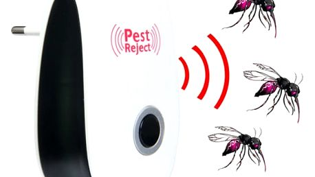 Ultrazvukový odpuzovač škůdců - bílo-černý
