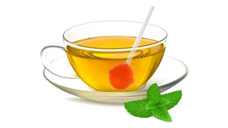 Sítko na čaj ve tvaru lízátka