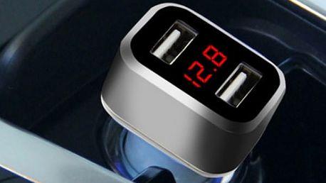 Duální autonabíječka s voltmetrem