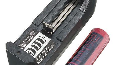 Nabíječka na baterie s 18650 baterií a adaptérem