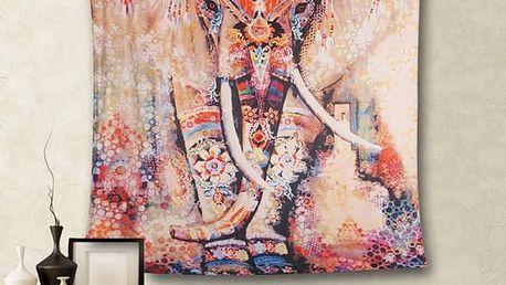 Textilní obraz s indickým motivem - 5 vzorů