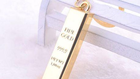 Přívěsek na klíče - zlatá cihla